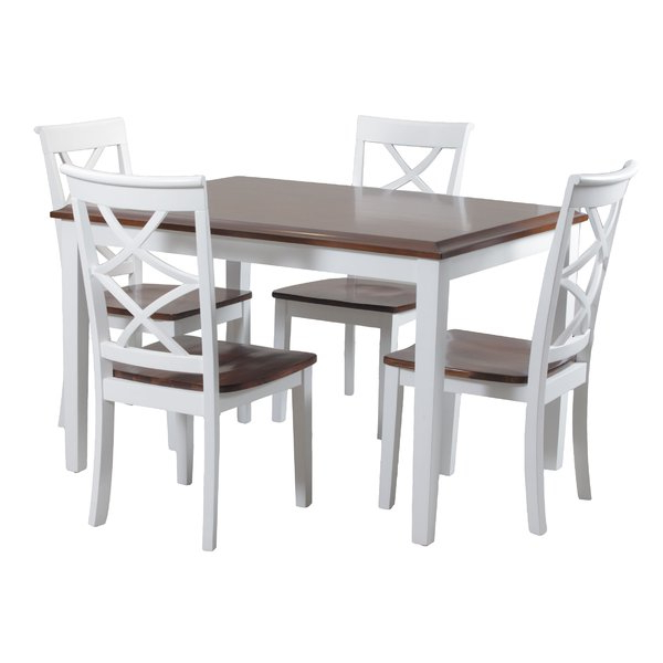Featured Photo of Falmer 3 Piece Solid Wood Dining Sets