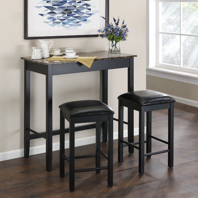 Wayfair For Current Nutter 3 Piece Dining Sets (View 19 of 20)