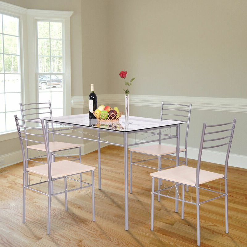 Wayfair In Newest Stouferberg 5 Piece Dining Sets (View 3 of 20)
