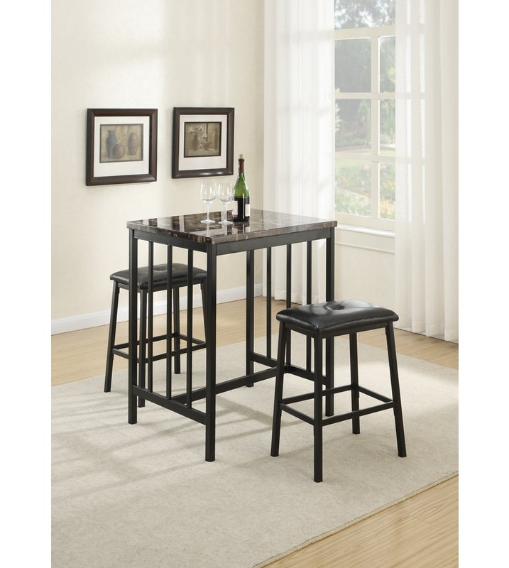 Wayfair In Recent Kernville 3 Piece Counter Height Dining Sets (View 19 of 20)