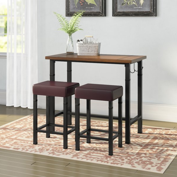 Wayfair Inside Most Recently Released Valladares 3 Piece Pub Table Sets (View 3 of 20)