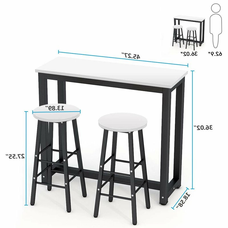 Wayfair Inside Well Liked Wallflower 3 Piece Dining Sets (View 15 of 20)
