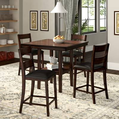 Wayfair Intended For Popular Biggs 5 Piece Counter Height Solid Wood Dining Sets (Set Of 5) (View 15 of 20)