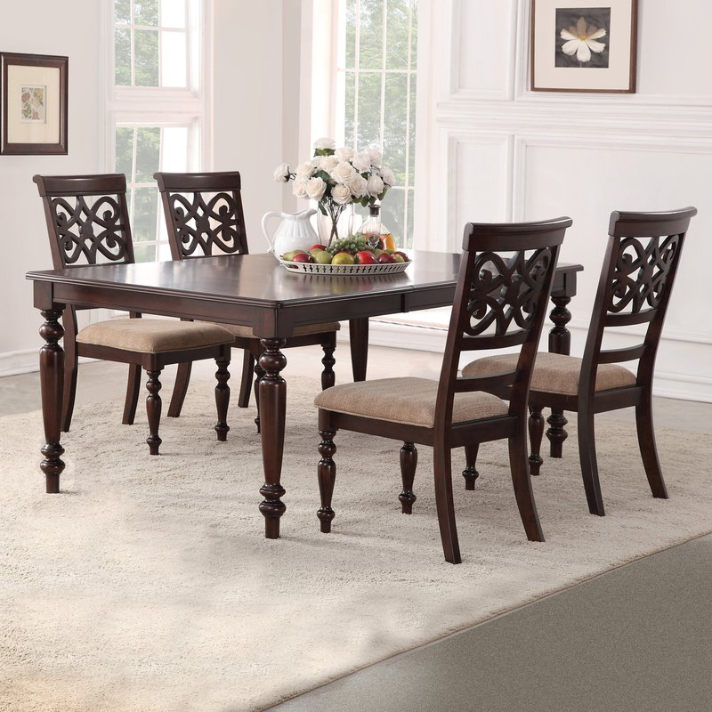 Wayfair Pertaining To Favorite Laconia 7 Pieces Solid Wood Dining Sets (Set Of 7) (View 14 of 20)