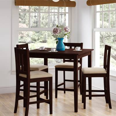 Wayfair Pertaining To Most Current Biggs 5 Piece Counter Height Solid Wood Dining Sets (set Of 5) (View 7 of 20)