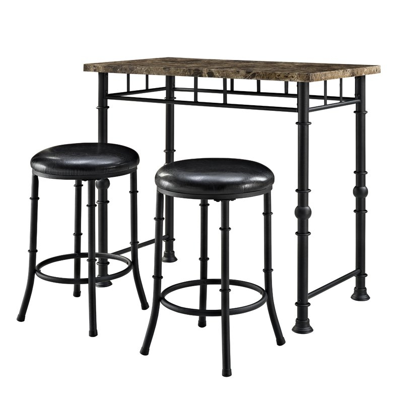 Wayfair Regarding Most Up To Date Giles 3 Piece Dining Sets (Gallery 3 of 20)