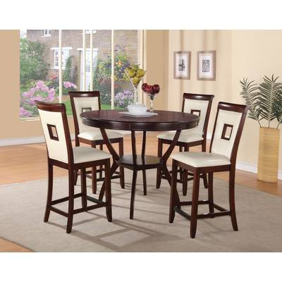 Wayfair Regarding Widely Used Biggs 5 Piece Counter Height Solid Wood Dining Sets (set Of 5) (View 6 of 20)