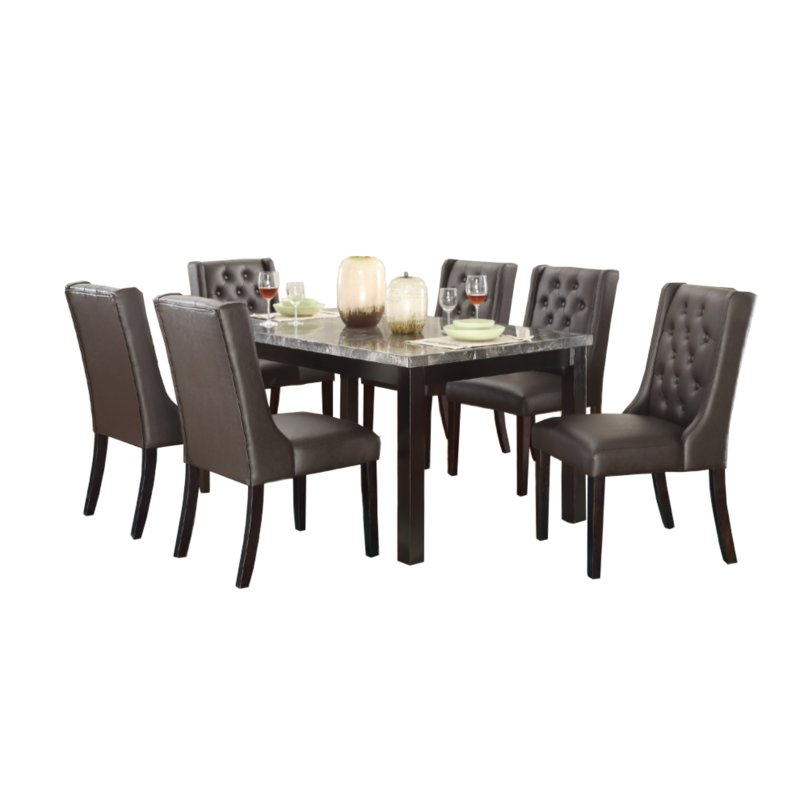 Wayfair With Laconia 7 Pieces Solid Wood Dining Sets (Set Of 7) (View 15 of 20)