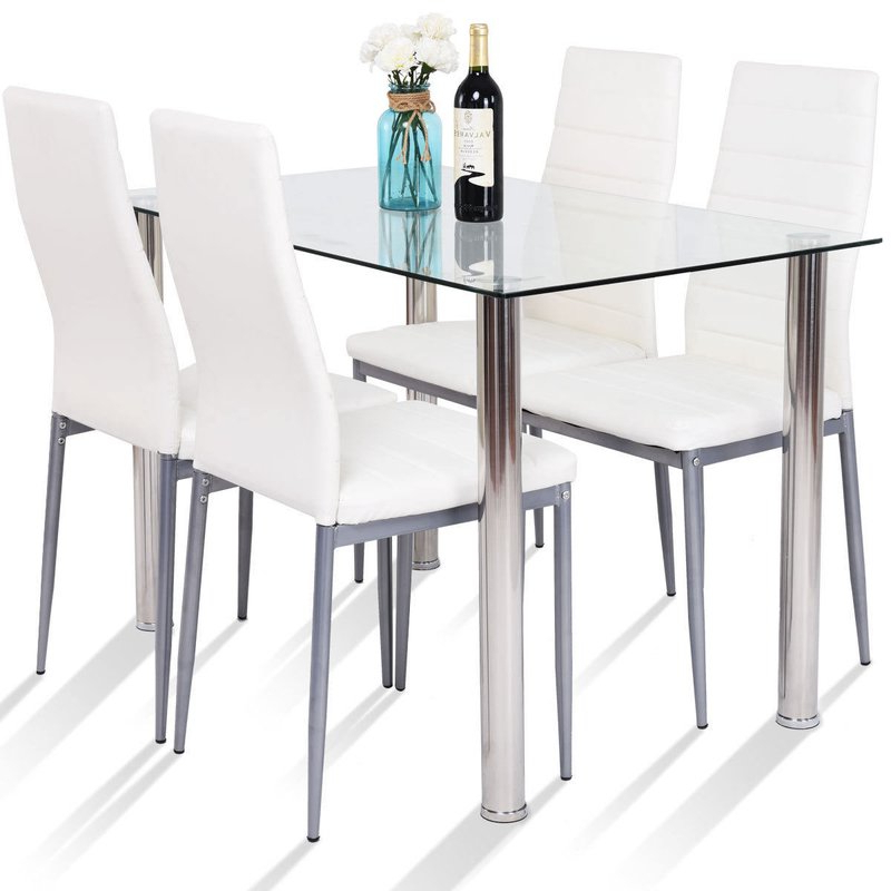 Wayfair With Regard To Well Liked Travon 5 Piece Dining Sets (View 20 of 20)
