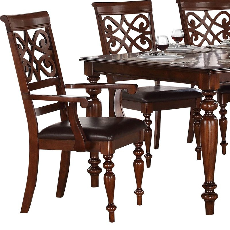 Wayfair With Widely Used Laconia 7 Pieces Solid Wood Dining Sets (Set Of 7) (View 17 of 20)
