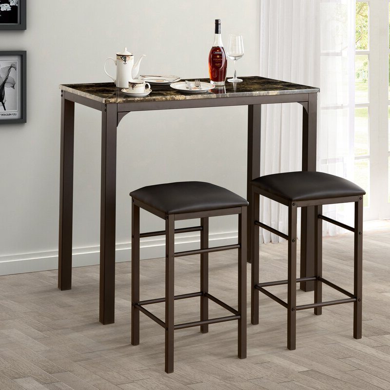Wayfair Within Best And Newest Lillard 3 Piece Breakfast Nook Dining Sets (View 3 of 20)