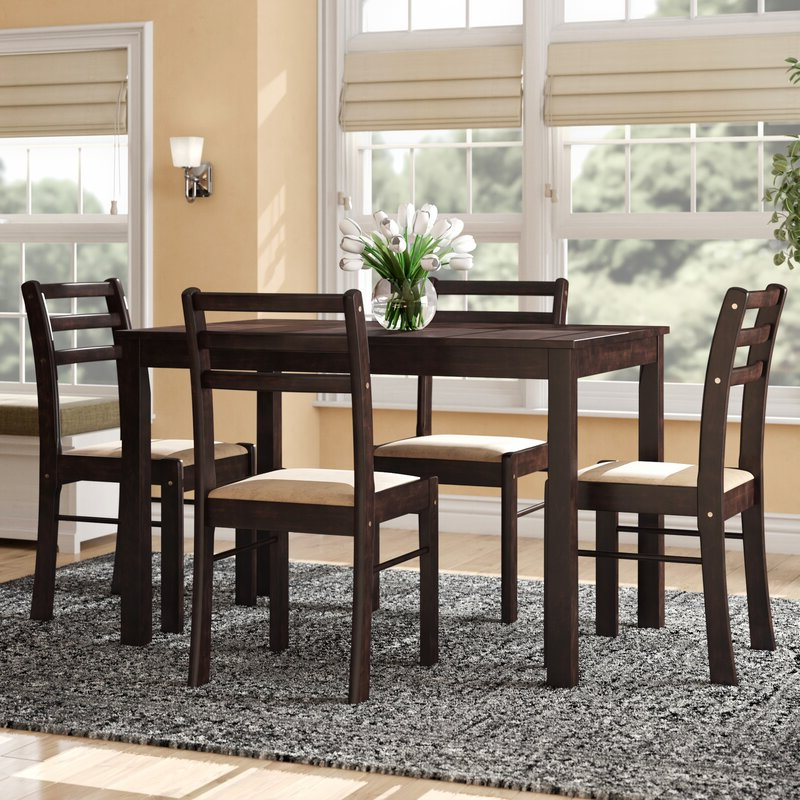 Wayfair Within Ganya 5 Piece Dining Sets (View 8 of 20)