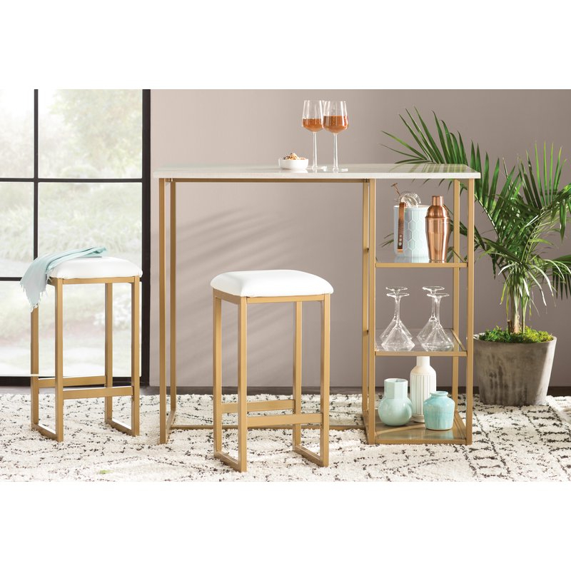 Wayfair Within Kaya 3 Piece Dining Sets (View 18 of 20)