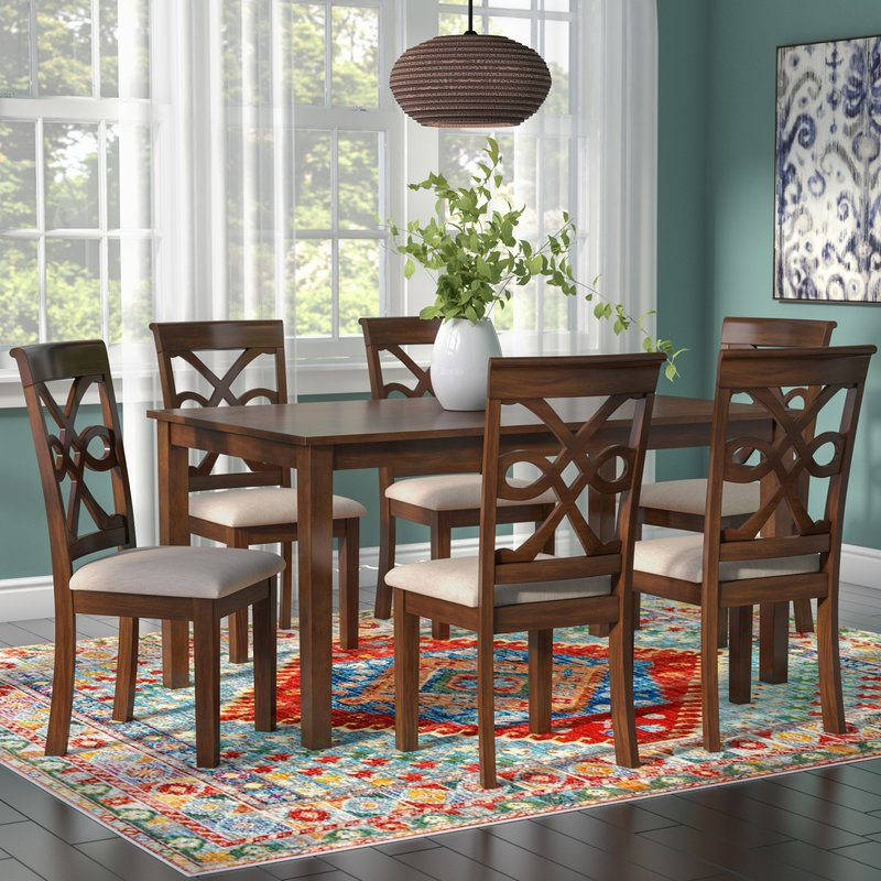 Wayfair Within Laconia 7 Pieces Solid Wood Dining Sets (Set Of 7) (View 18 of 20)