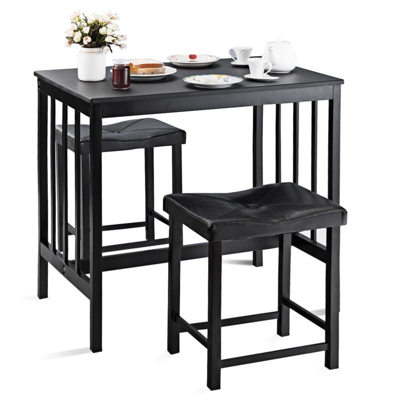 Wayfair Within Miskell 3 Piece Dining Sets (View 3 of 20)