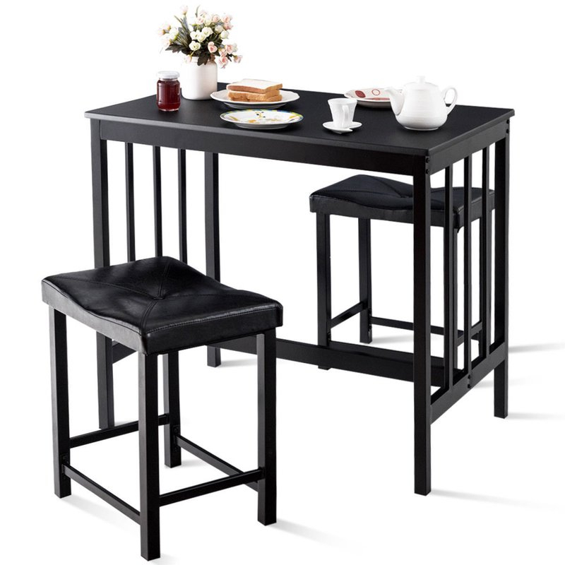 Wayfair Within Miskell 3 Piece Dining Sets (View 2 of 20)