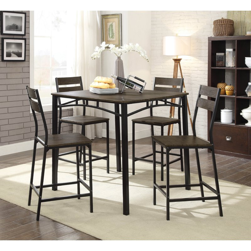 Wayfair Within Trendy Autberry 5 Piece Dining Sets (View 2 of 20)