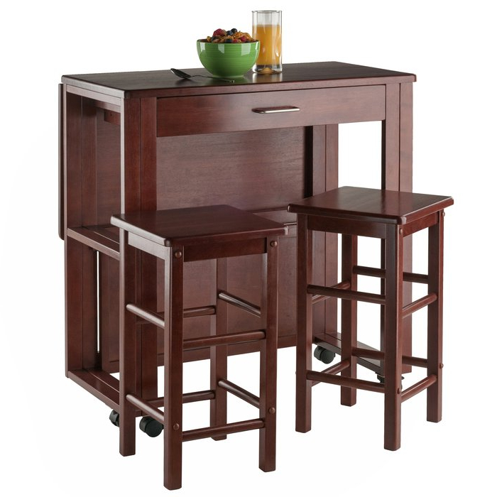 Wayfair Within Trendy Crownover 3 Piece Bar Table Sets (View 3 of 20)