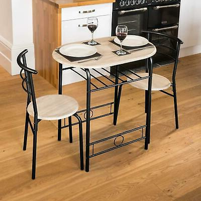 Well Known 3 Piece Breakfast Garden Bar Dining Table And 2 Chairs Set Metal Intended For 3 Piece Breakfast Dining Sets (View 19 of 20)