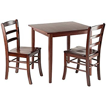Well Known Amazon – Coaster Home Furnishings 3 Piece Dining Set With Drop Intended For Cincinnati 3 Piece Dining Sets (View 18 of 20)
