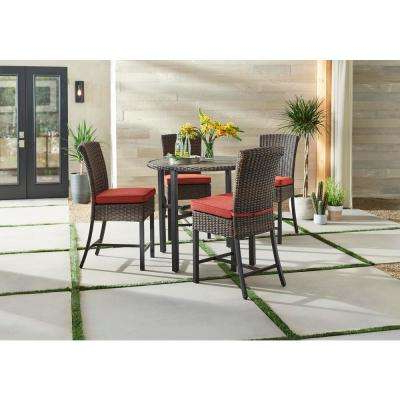 Well Known Bar Height – Patio Dining Sets – Patio Dining Furniture – The Home Depot Pertaining To Bate Red Retro 3 Piece Dining Sets (View 20 of 20)