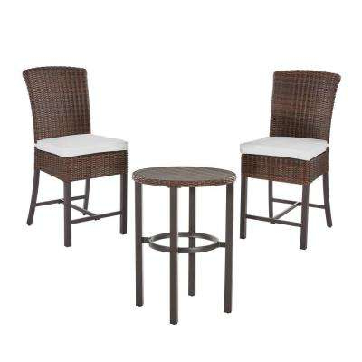 Well Known Bate Red Retro 3 Piece Dining Sets Intended For Bar Height – Patio Dining Sets – Patio Dining Furniture – The Home Depot (Gallery 19 of 20)
