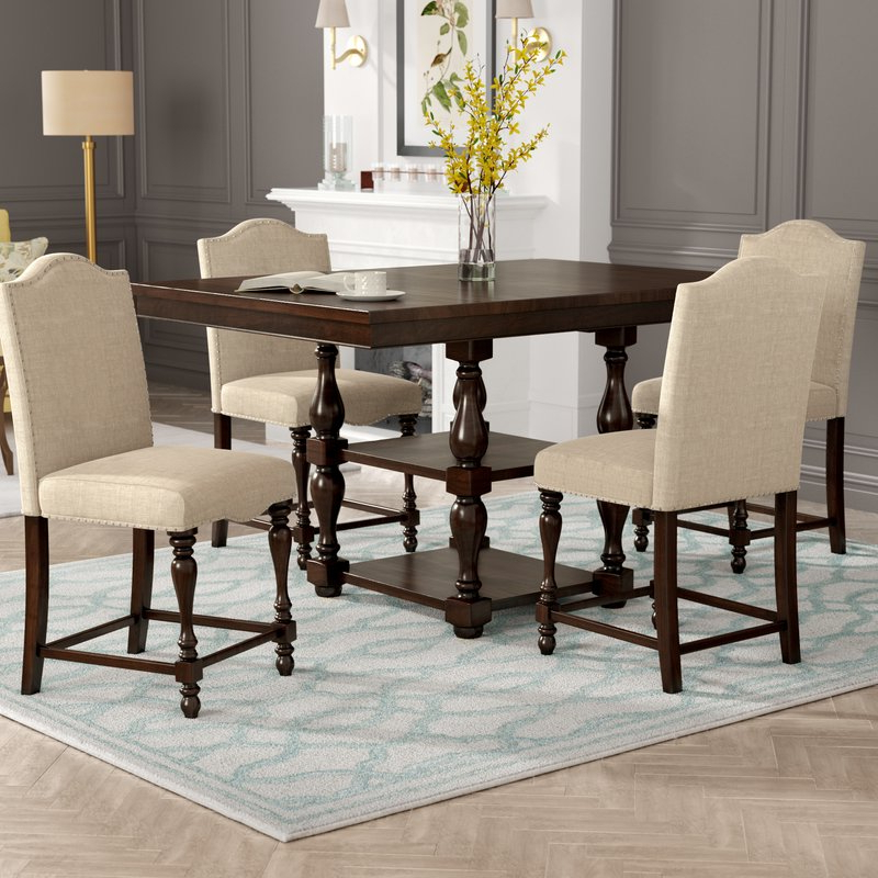 Well Known Bryson 5 Piece Dining Sets With Birch Lane™ Heritage Barrera 5 Piece Counter Height Dining Set (View 19 of 20)
