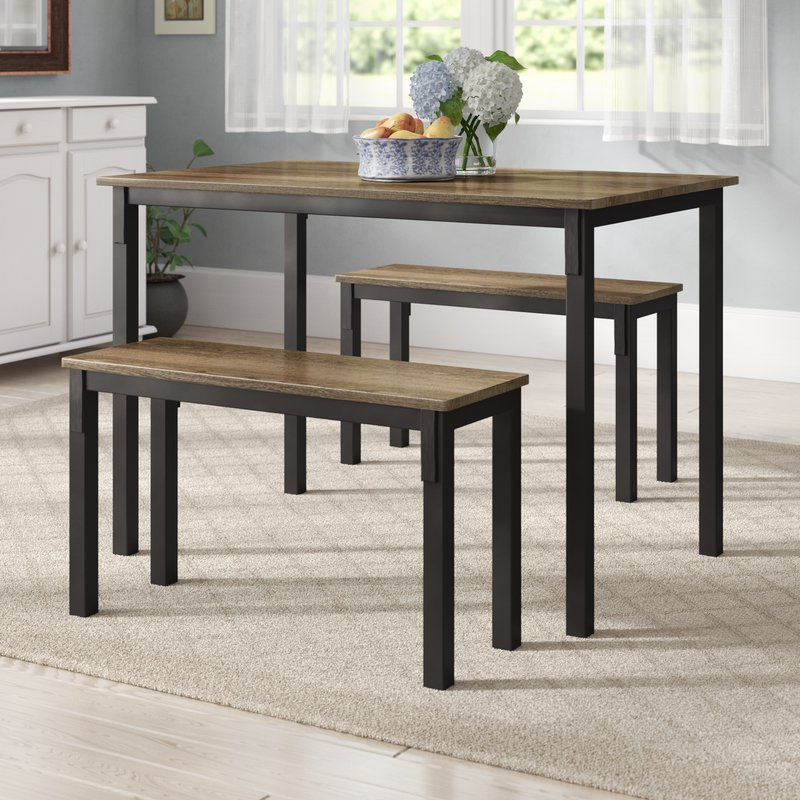 Well Known Frida 3 Piece Dining Table Sets Intended For Andover Mills Rossiter 3 Piece Dining Set & Reviews (View 9 of 20)