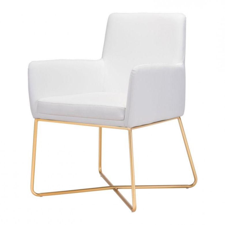 Well Known Honoria 3 Piece Dining Sets Inside Zuo Modern Honoria Arm Chair White 101147 – Arm Chairs – Dining (View 13 of 20)