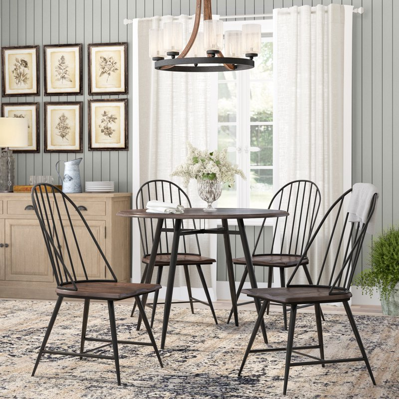 Well Known Hughley 5 Piece Dining Set & Reviews (View 15 of 20)