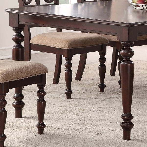 Well Known Laconia 7 Pieces Solid Wood Dining Sets (Set Of 7) Regarding Shop Home Source Laconia Walnut 5 Piece Dining Set – Free Shipping (View 19 of 20)