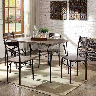 Well Known Queener 5 Piece Dining Sets Pertaining To Red Barrel Studio Queener 5 Piece Dining Set & Reviews (View 20 of 20)