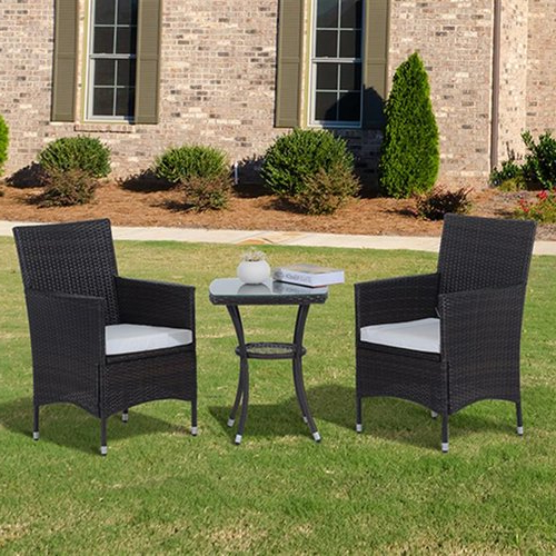 Well Known Sol 72 Outdoor Kinsler 2 Seater Bistro Set With Cushions In 2019 In Kinsler 3 Piece Bistro Sets (Gallery 11 of 20)