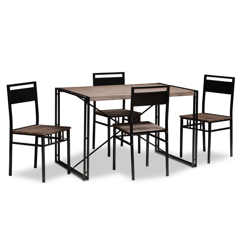 Well Known Stouferberg 5 Piece Dining Sets In Williston Forge Mizell 5 Piece Dining Set & Reviews (View 11 of 20)