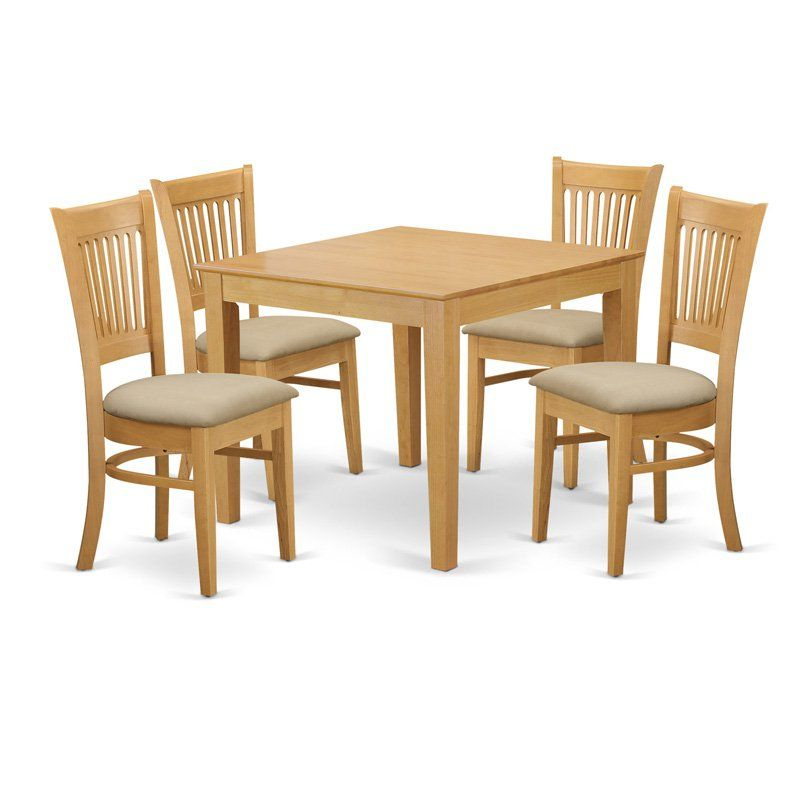 Well Known Sundberg 5 Piece Solid Wood Dining Sets Inside East West Furniture 5 Piece Hepplewhite Modern Breakfast Nook Dining (View 7 of 20)