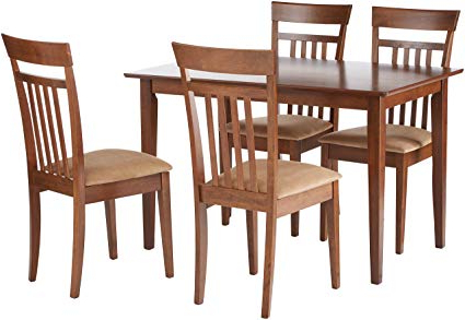 Well Liked Bryson 5 Piece Dining Sets Intended For Amazon – Coaster 150430ii Co 150430 5 Pc Dining Set, Walnut (View 10 of 20)