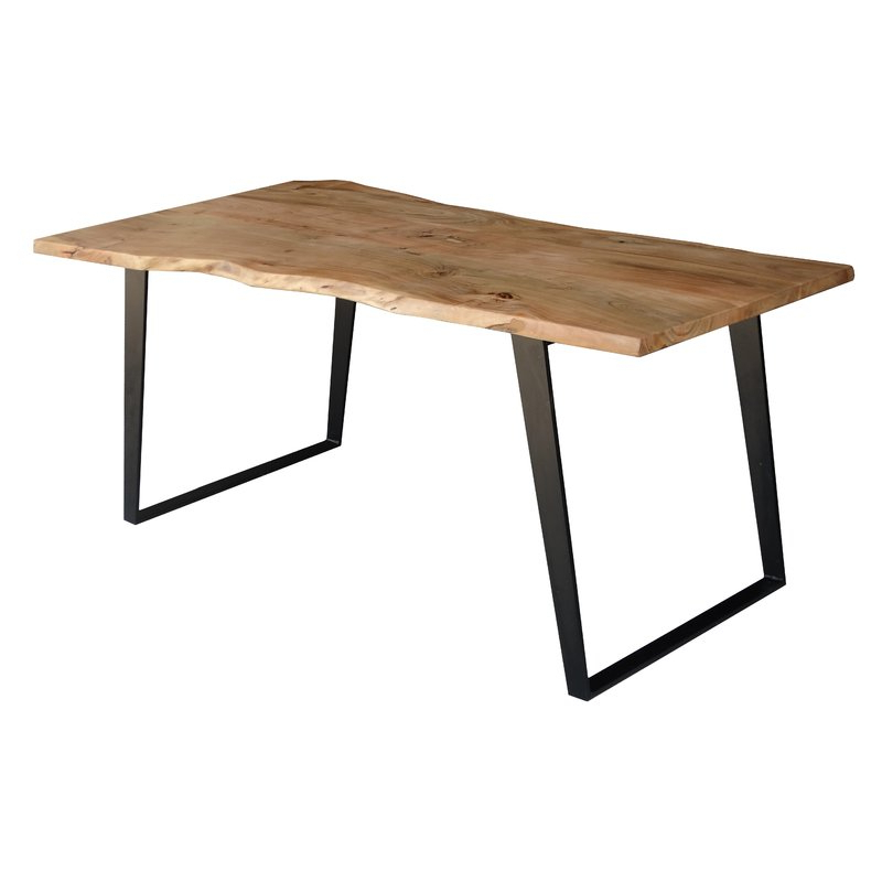 Well Liked Emmeline Solid Wood Live Edge Dining Table & Reviews (Gallery 12 of 20)
