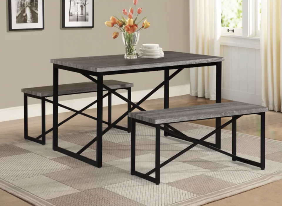 Well Liked Furniture Home & Garden Williston Forge Bearden 3 Piece Dining Set Inside Bearden 3 Piece Dining Sets (Gallery 4 of 20)