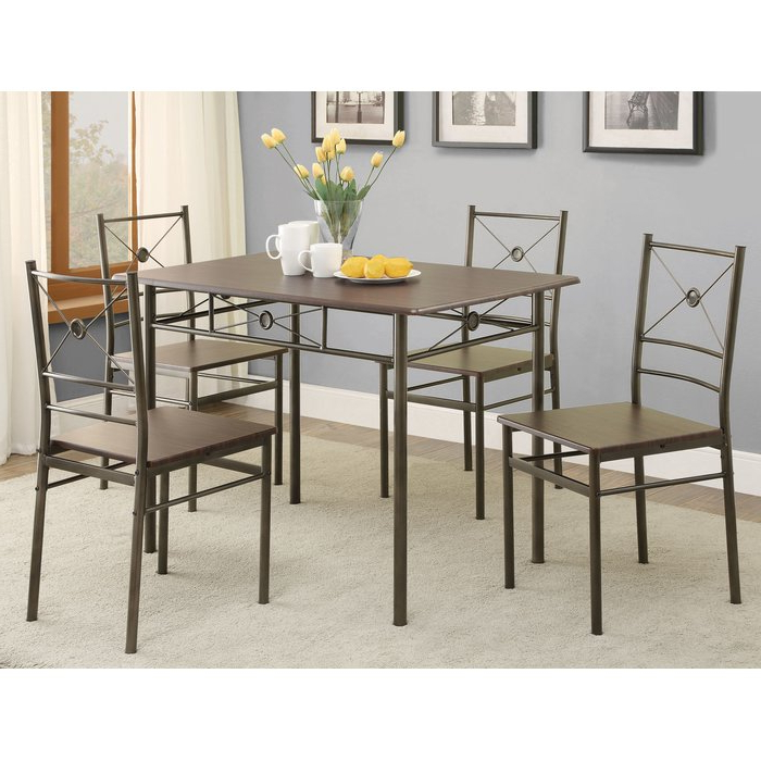 Well Liked Kieffer 5 Piece Dining Sets Pertaining To Andover Mills Kieffer 5 Piece Dining Set & Reviews (View 2 of 20)