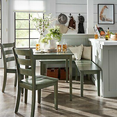 Well Liked Ligon 3 Piece Breakfast Nook Dining Sets With Regard To Ebern Designs Lightle 5 Piece Breakfast Nook Dining Set – $ (View 19 of 20)