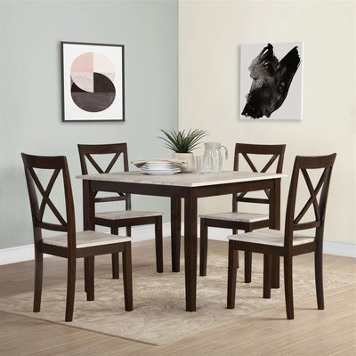 Well Liked Middleport 5 Piece Dining Sets In Amazon – Tilley Rustic 5 Piece Dining Setandover Mill (View 20 of 20)