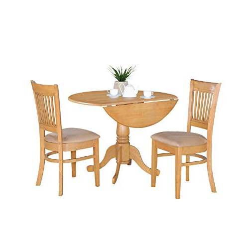 West Hill Family Table 3 Piece Dining Sets Intended For Well Known Drop Leaf Tables For Small Spaces: Amazon (View 13 of 20)
