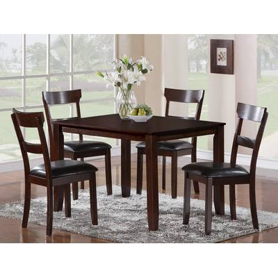 Wholesale Interiors Baxton Studio Keitaro 5 Piece Dining Set In Popular Baxton Studio Keitaro 5 Piece Dining Sets (View 19 of 20)