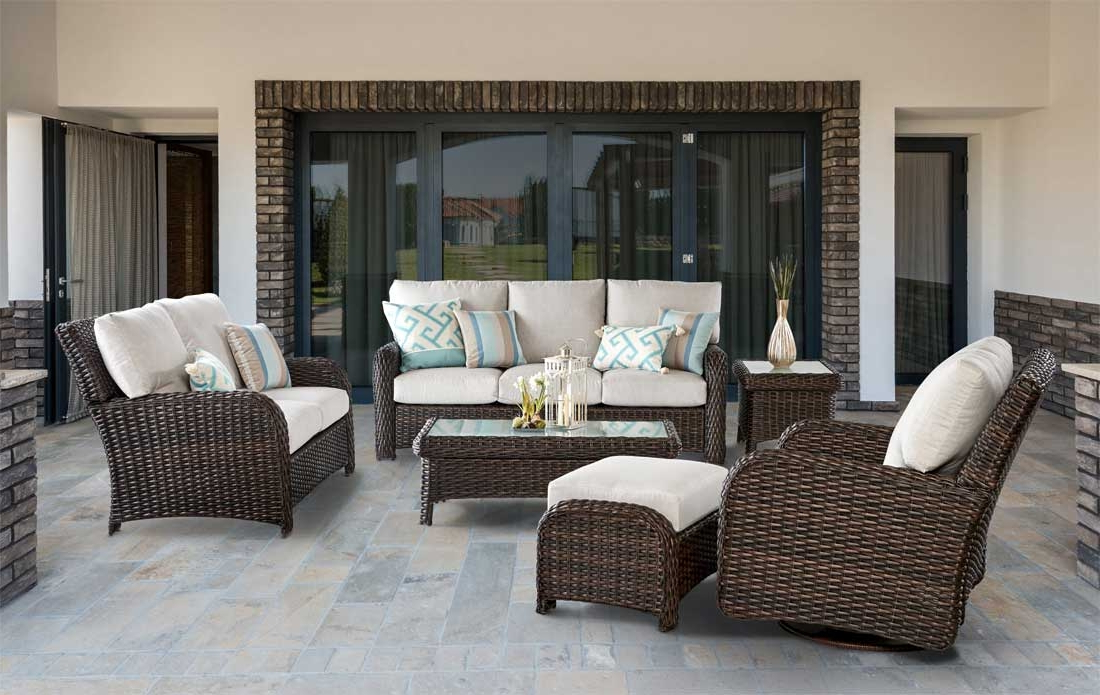 Wicker St Croix All Weather Resin Wicker Furniture Sets, Tobacco With Regard To 2019 Saintcroix 3 Piece Dining Sets (View 17 of 20)