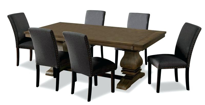 Widely Used Calla 5 Piece Dining Sets Inside Dark Brown Dining Table With Grey Chairs Black Room Distressed And (View 20 of 20)