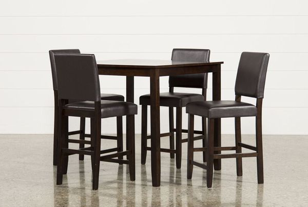 Widely Used Jarrod 5 Piece Dining Counter Set Bought From Living Spaces For Sale Pertaining To Jarrod 5 Piece Dining Sets (View 20 of 20)