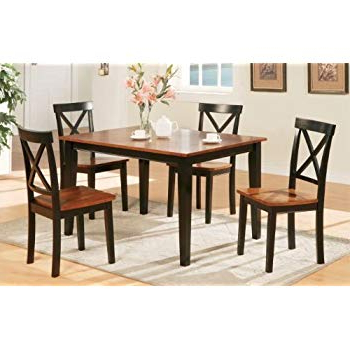 Widely Used Kieffer 5 Piece Dining Sets With Amazon – Coaster 150430ii Co 150430 5 Pc Dining Set, Walnut (View 9 of 20)