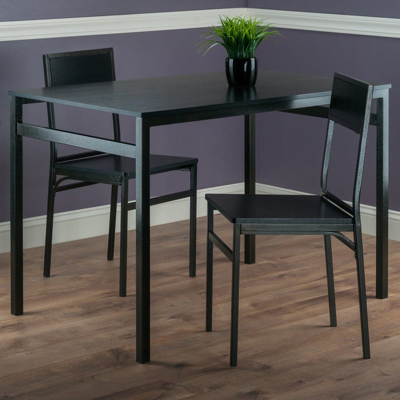 Widely Used Latitude Run Springfield 3 Piece Dining Set & Reviews (Gallery 3 of 20)