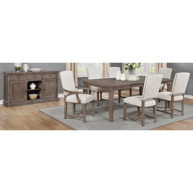 Widely Used Penelope 5 Piece Dining Set Island Khaki And Rice Grey Within Penelope 3 Piece Counter Height Wood Dining Sets (View 18 of 20)