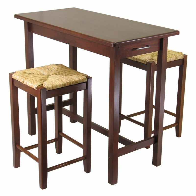 Winsome 3 Piece Counter Height Dining Set & Reviews (Gallery 1 of 20)